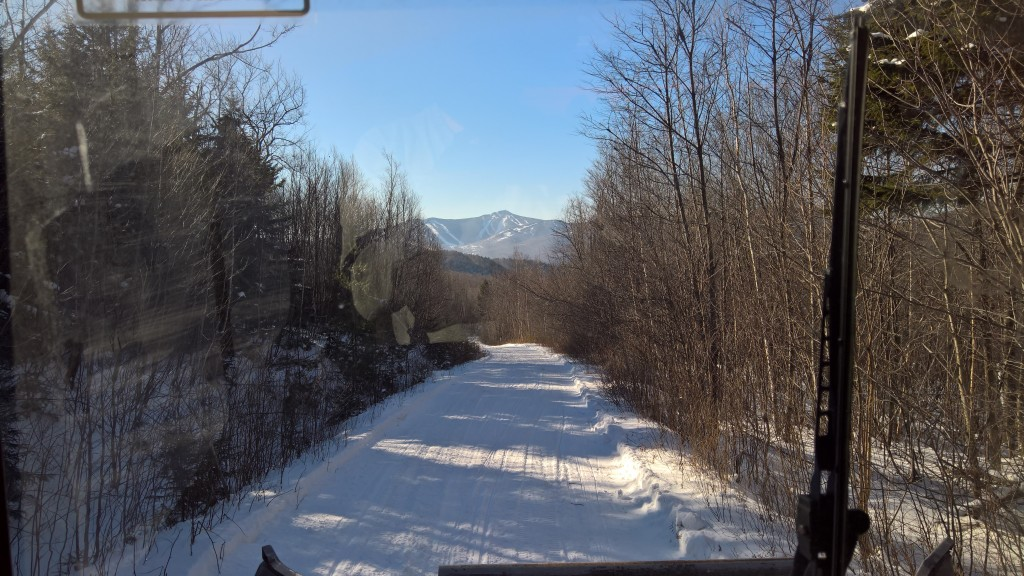 Grooming out towards RD59 with a view of Killington.